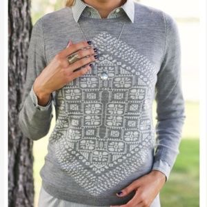 J. Crew Geometric Merino Sweater